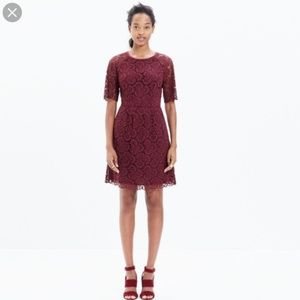 Madewell Burgundy Lace Dress